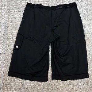 lululemon men's large black shorts zipper pocket